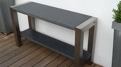 Sidetable Met Marmer.Sidetable Bladen Van Graniet Hardsteen Basalt Marmer Hout