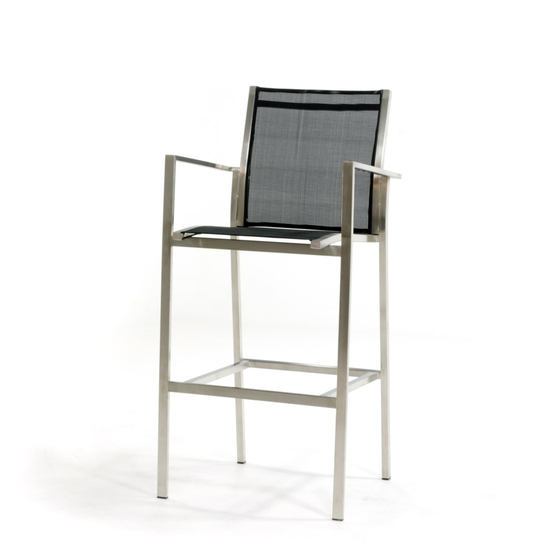Falck RVS black bar chair