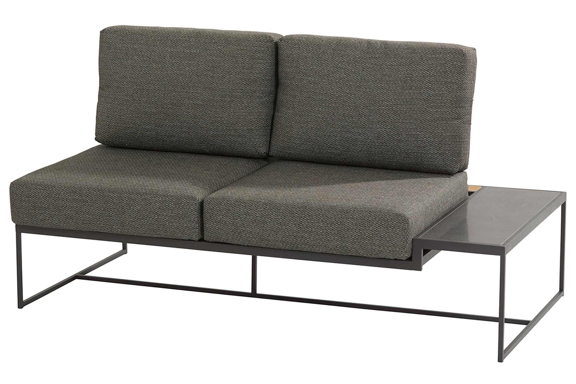 Patio platform 2 seater left with 4 cushions