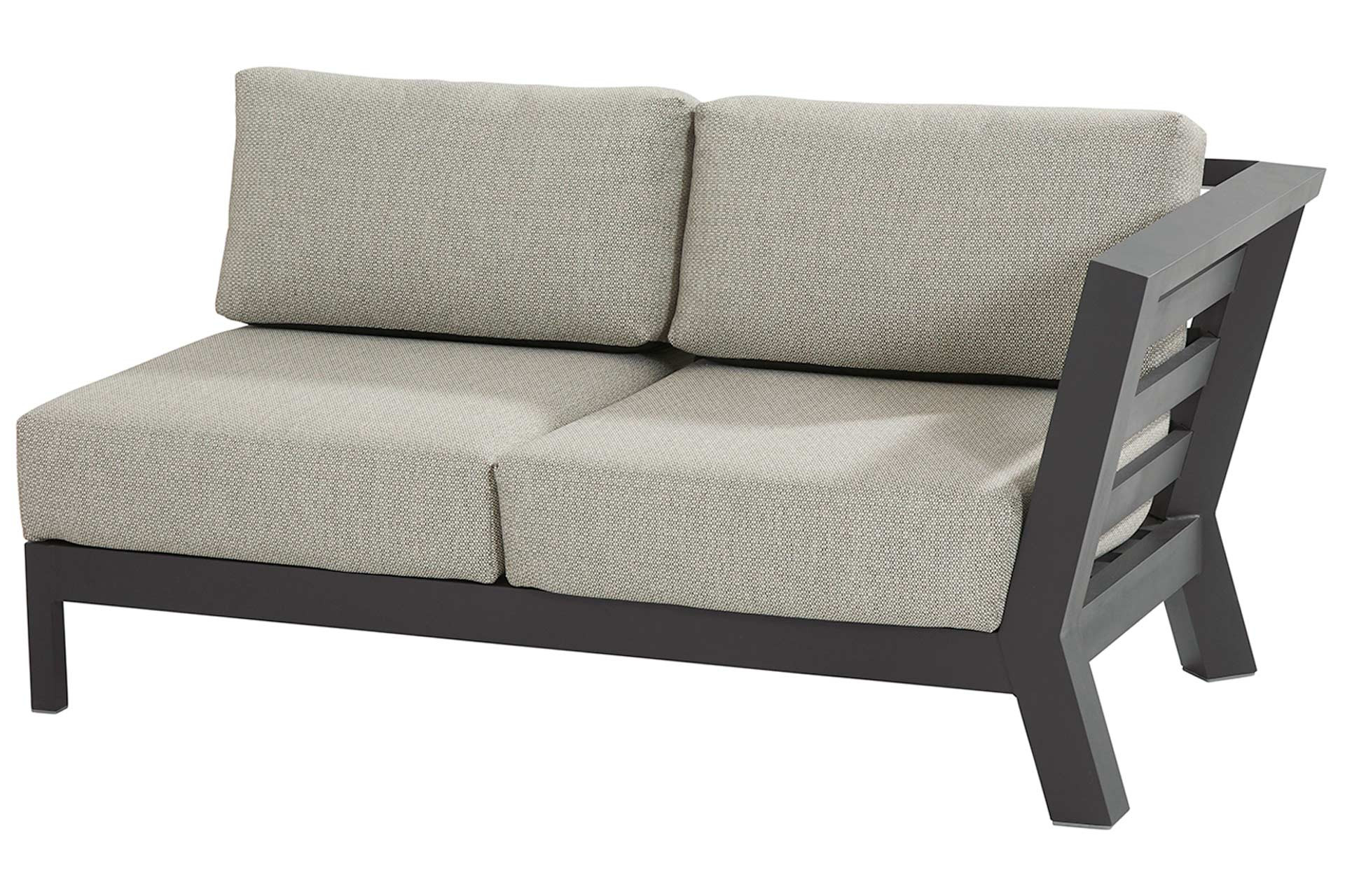 Meteoro modular 2 seater bench L arm with 4 cushions Anthracite