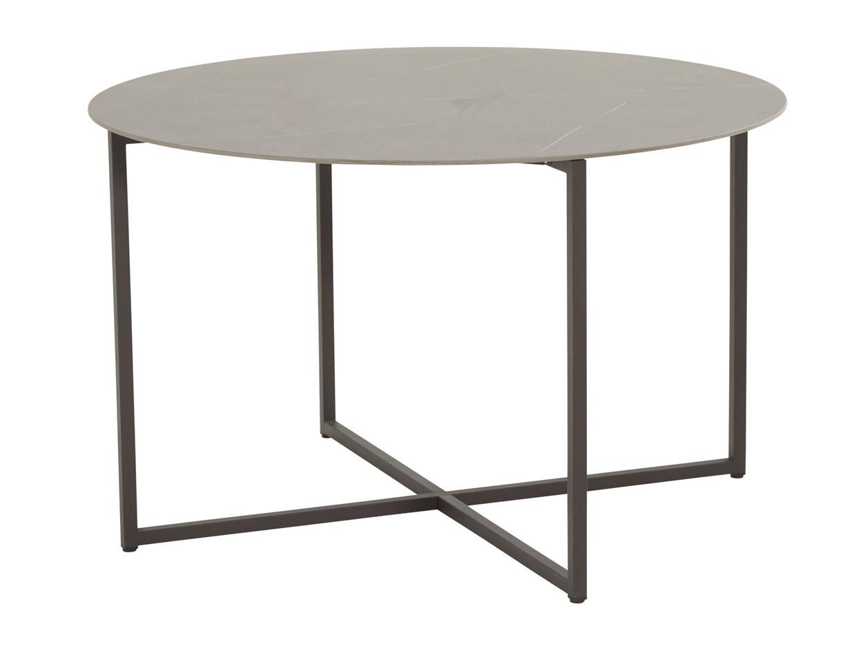 Quatro dining table 120 cm ø Anthracite marble