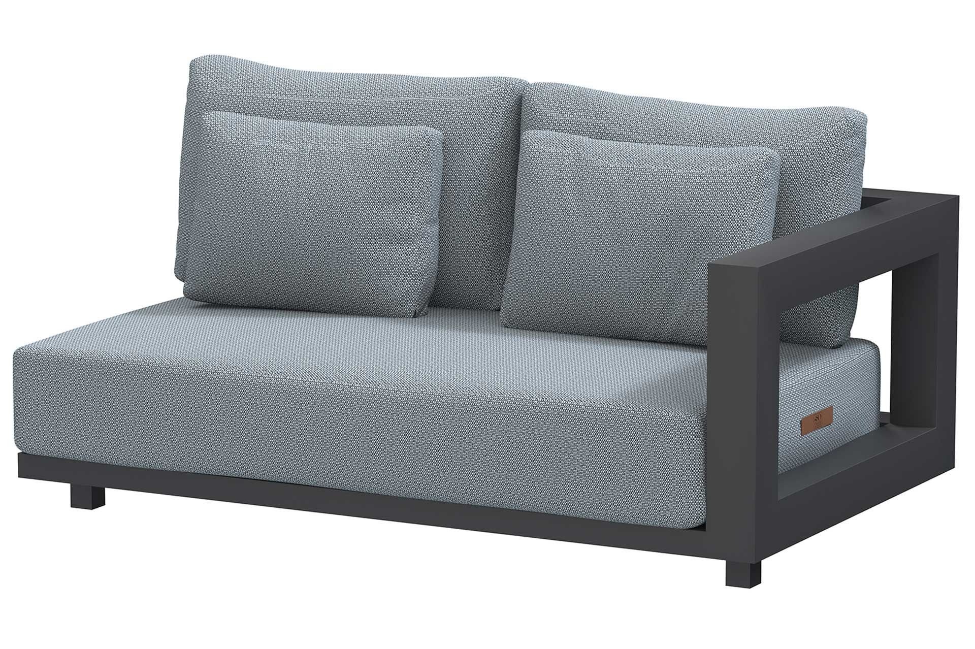 Metropolitan 2.5 seater bench left arm with 5 cushions
