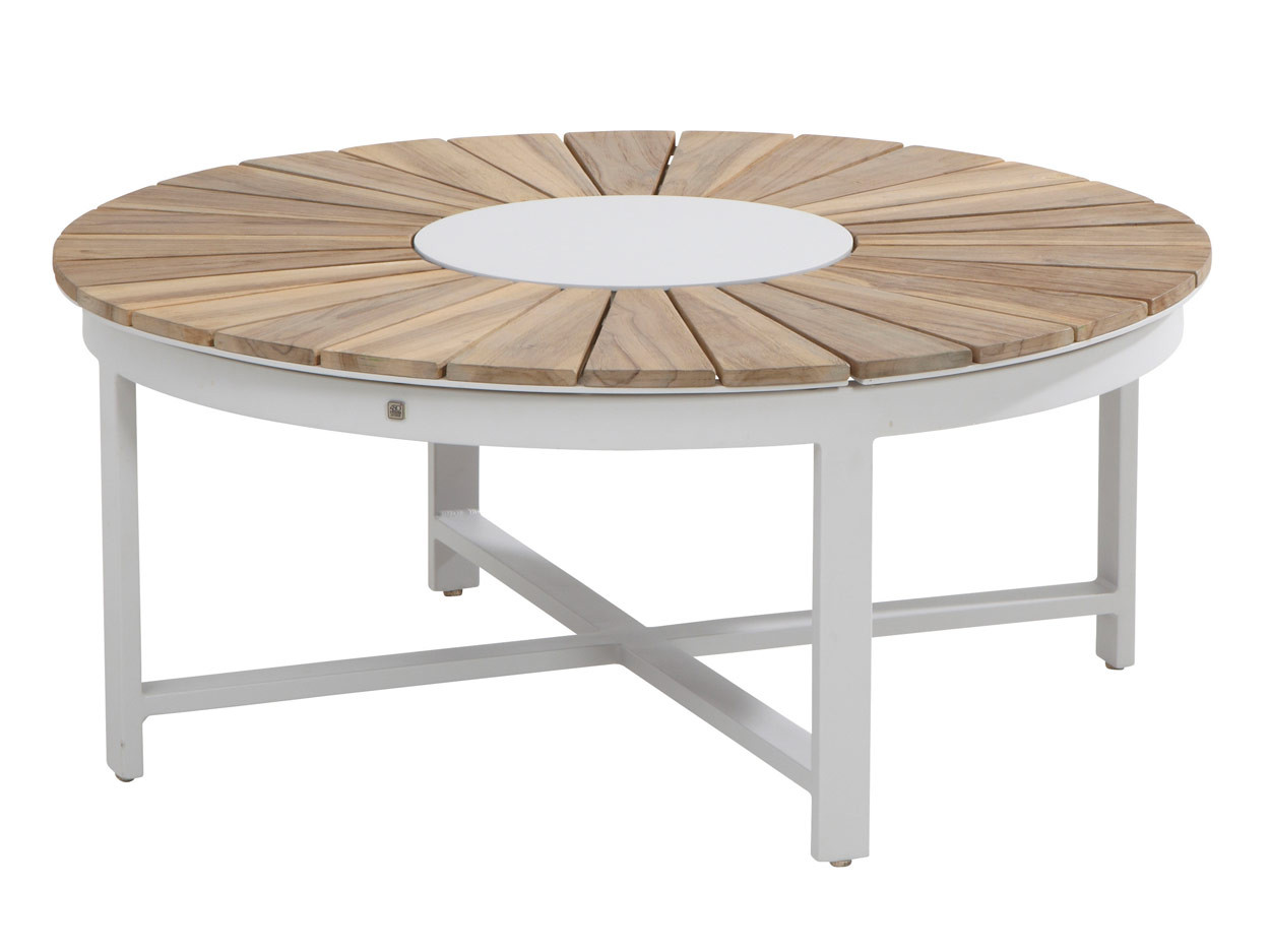 Forio frost grey lounge tuintafel rond 105cm