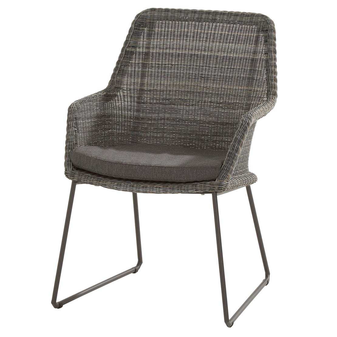 Samoa dining chair Ecoloom Charcoal with cushion
