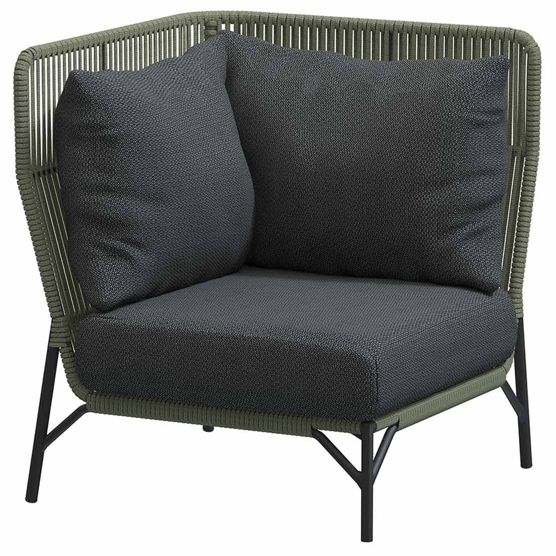 Altoro Modular corner Green with 3 cushions