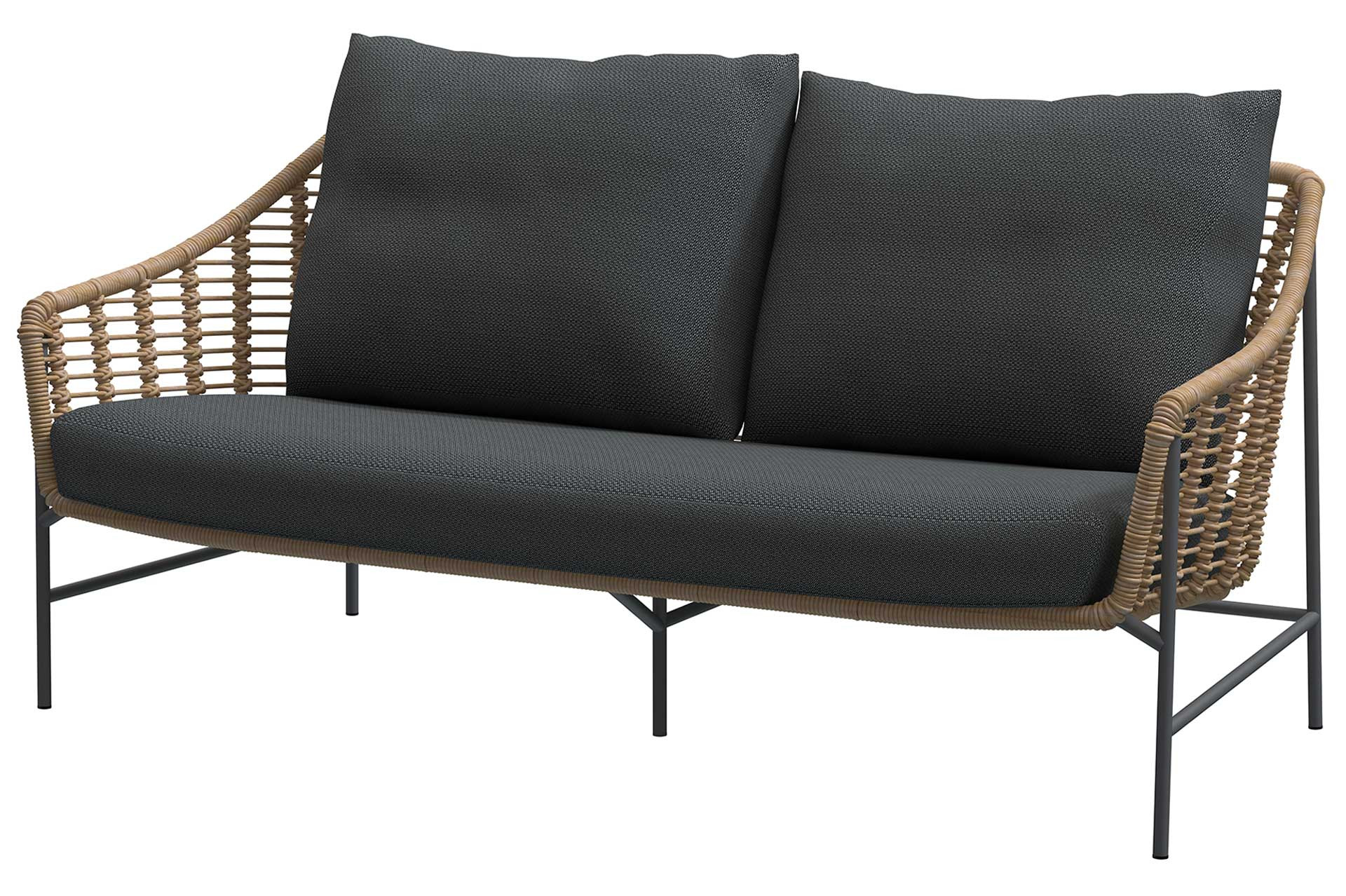 Timor living bench 2.5 seaters Harvest with 3 cushions