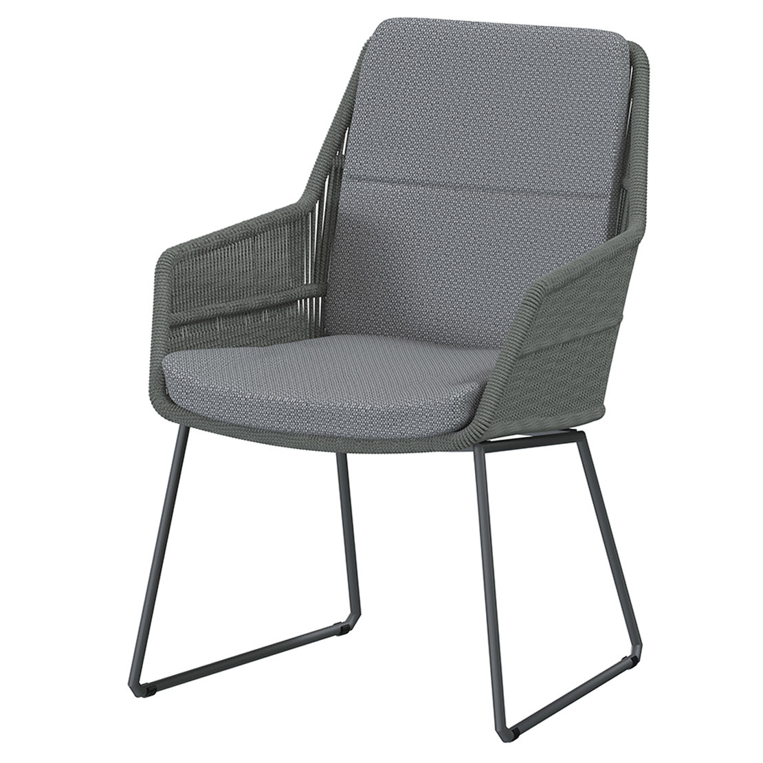Valencia dining chair Platinum with 2 cushions