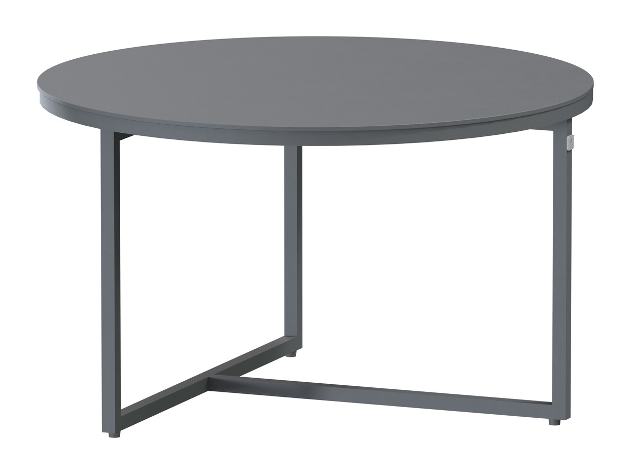 Valetta coffee table Alu round 58.5 cm. Alu legs (H35)