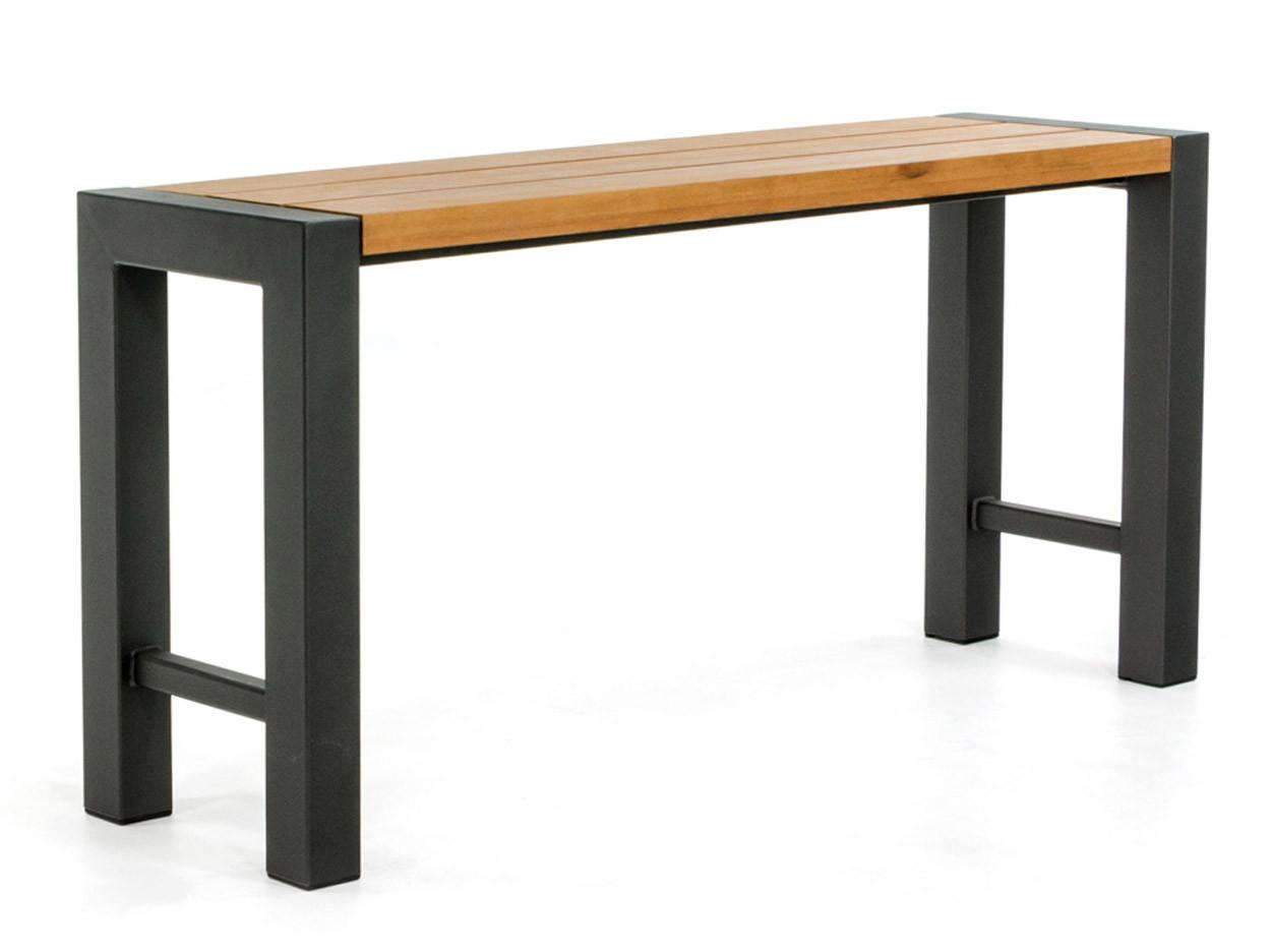 Side-table met zijliggers en hardhouten blad