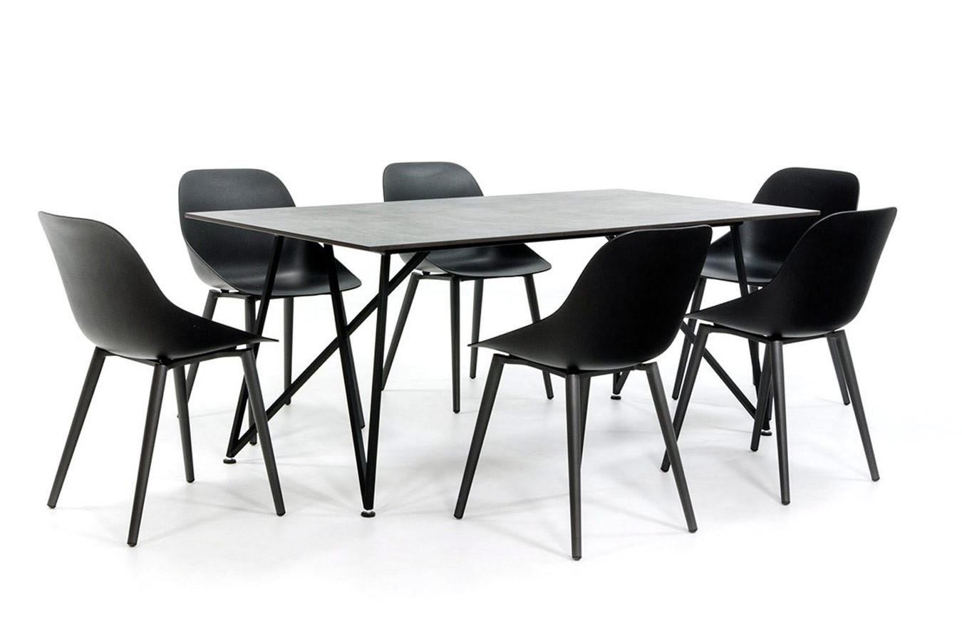Dekton tafel met Scandinavisch design onderstel