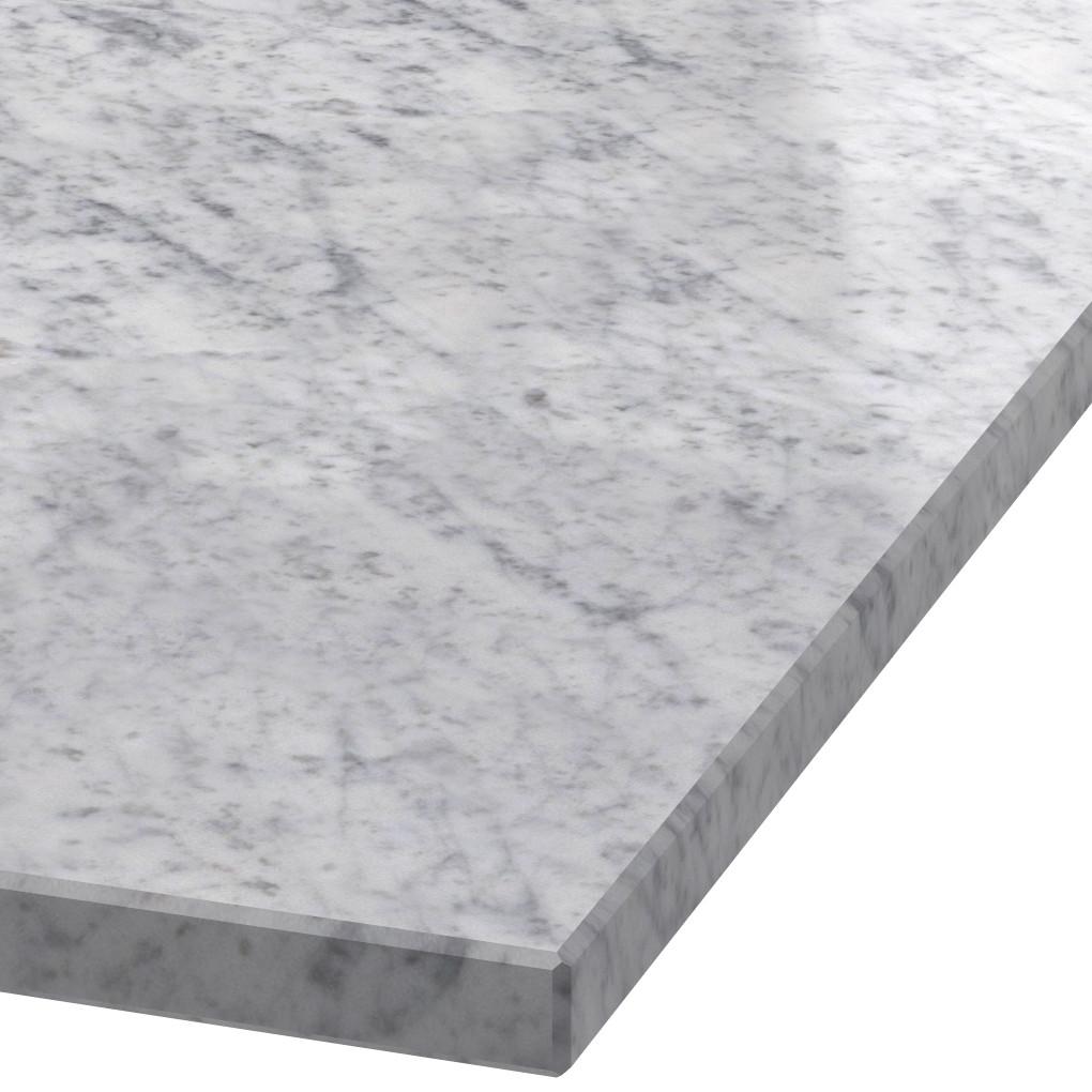 Blad 30mm dik Bianco Carrara C marmer (gepolijst)