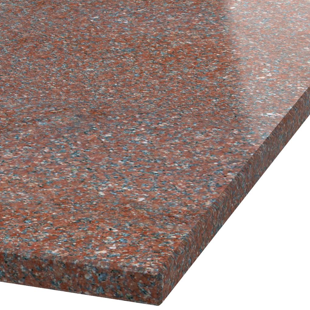 Blad 30mm dik Ruby Red graniet (gepolijst)