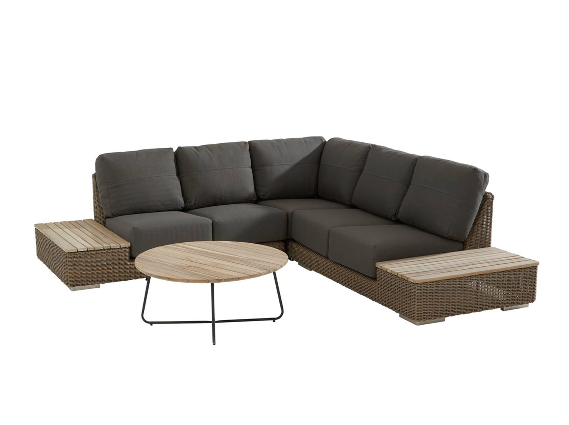 Kingston loungeset 4-delig met Axel lounge tuintafel 900cm