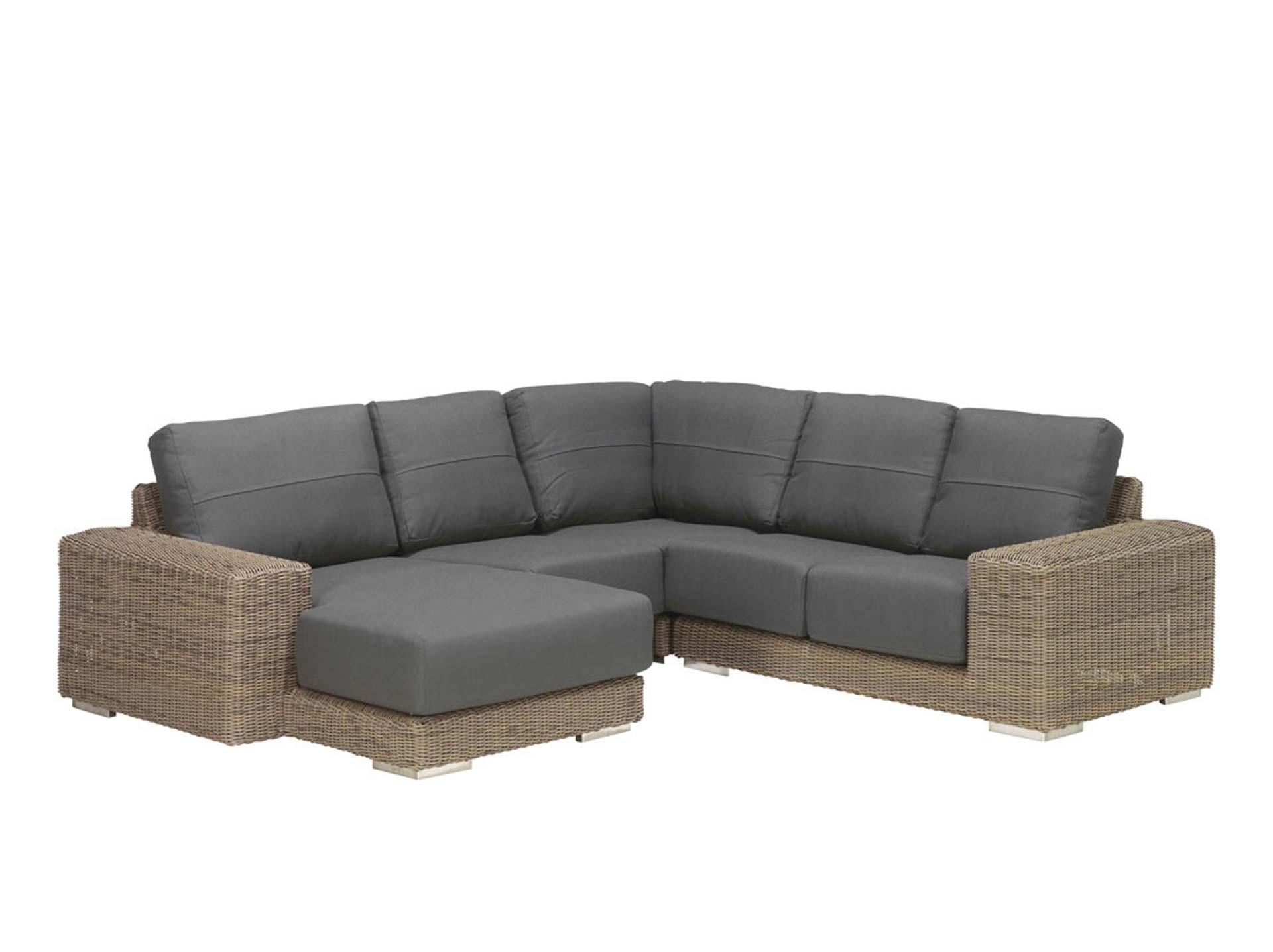 Kingston loungeset 4-delig met chaise lounge