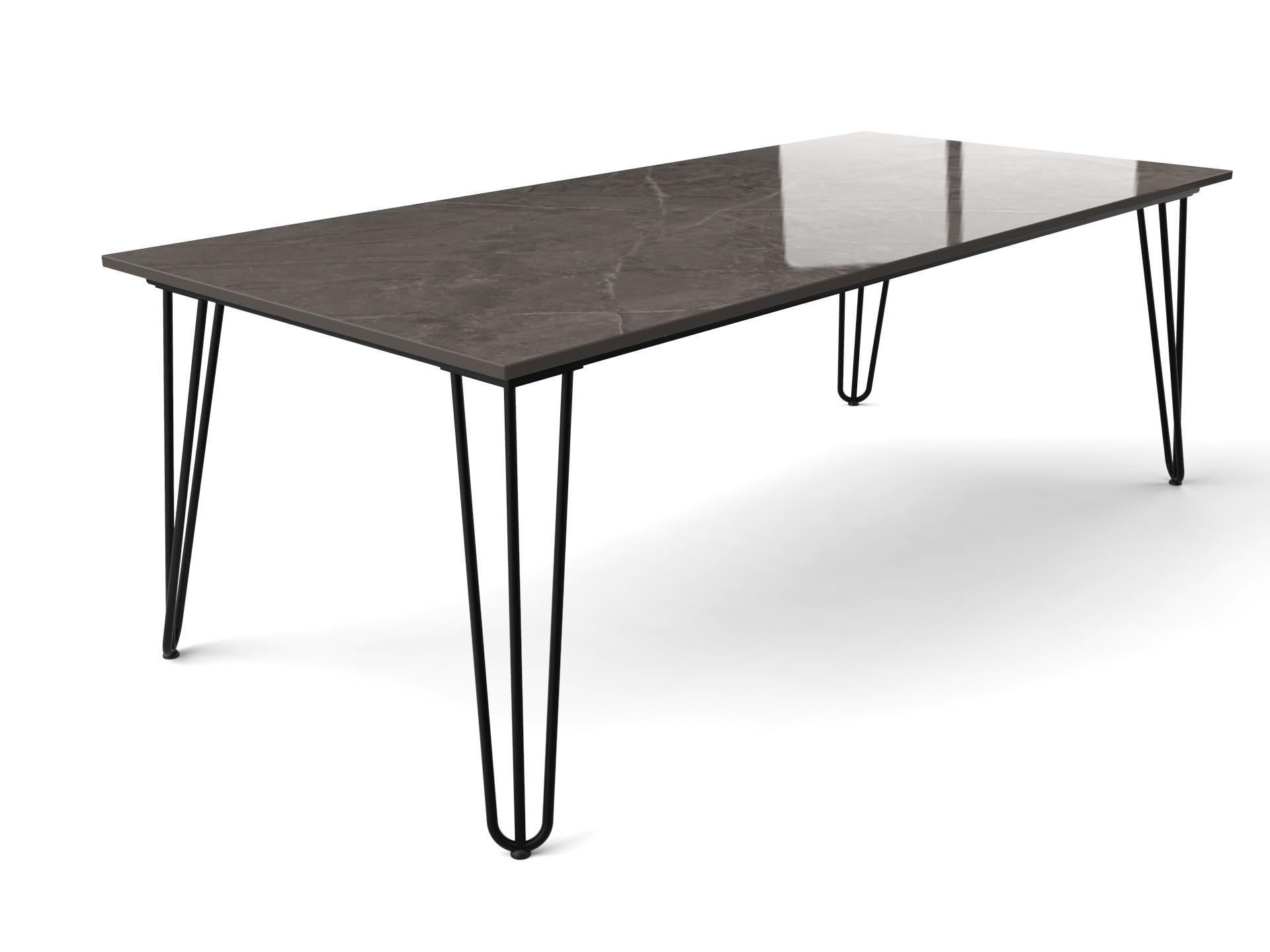 Hairpin tafel met Dekton tafelblad