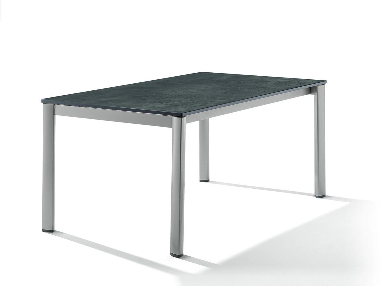 Uitschuiftafel grafietgrijs / beton