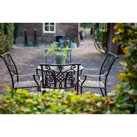 Pavia bronze dining tuinstoel stapelbaar