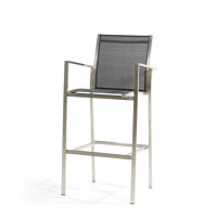 Falck RVS grey bar chair