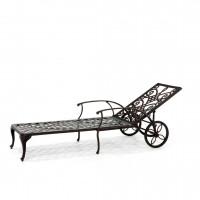 Pavia bronze ligbed met wiel
