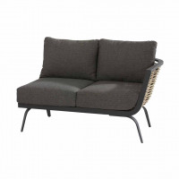 Antibes 2 seater bench left arm with 4 cushions