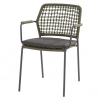 Barista stacking chair Green with cushion