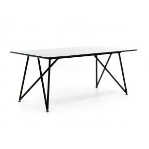 Design onderstel met gepolijst tafelblad
