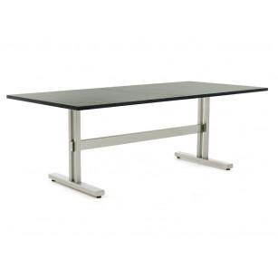 Trento RVS tuintafel met granieten tafelblad