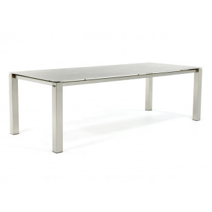 RVS eettafel met betonlook Keon Dekton tafelblad