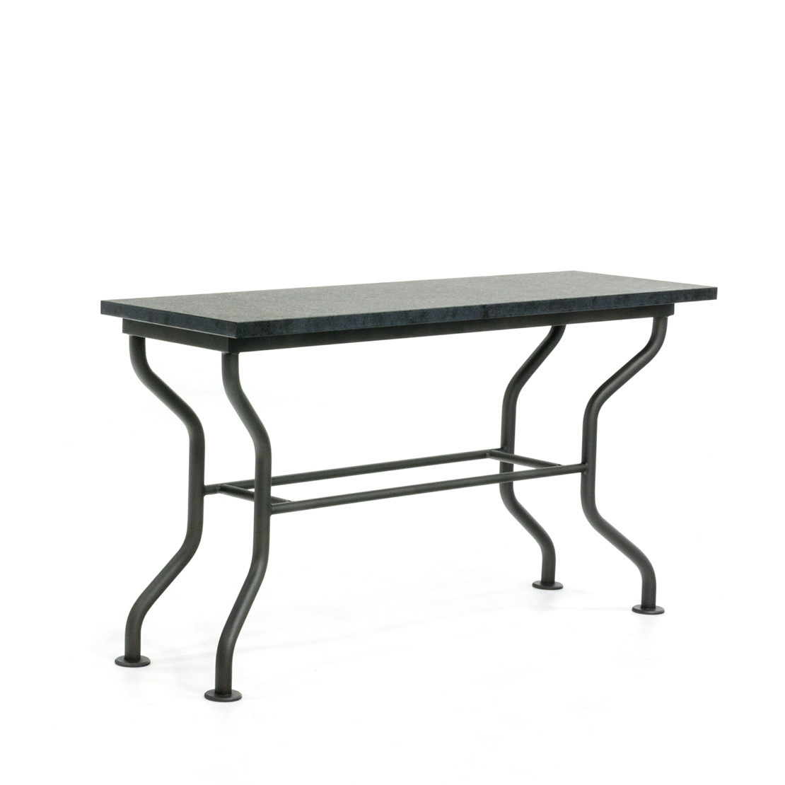 Side-table met basalt (gevlamd) blad
