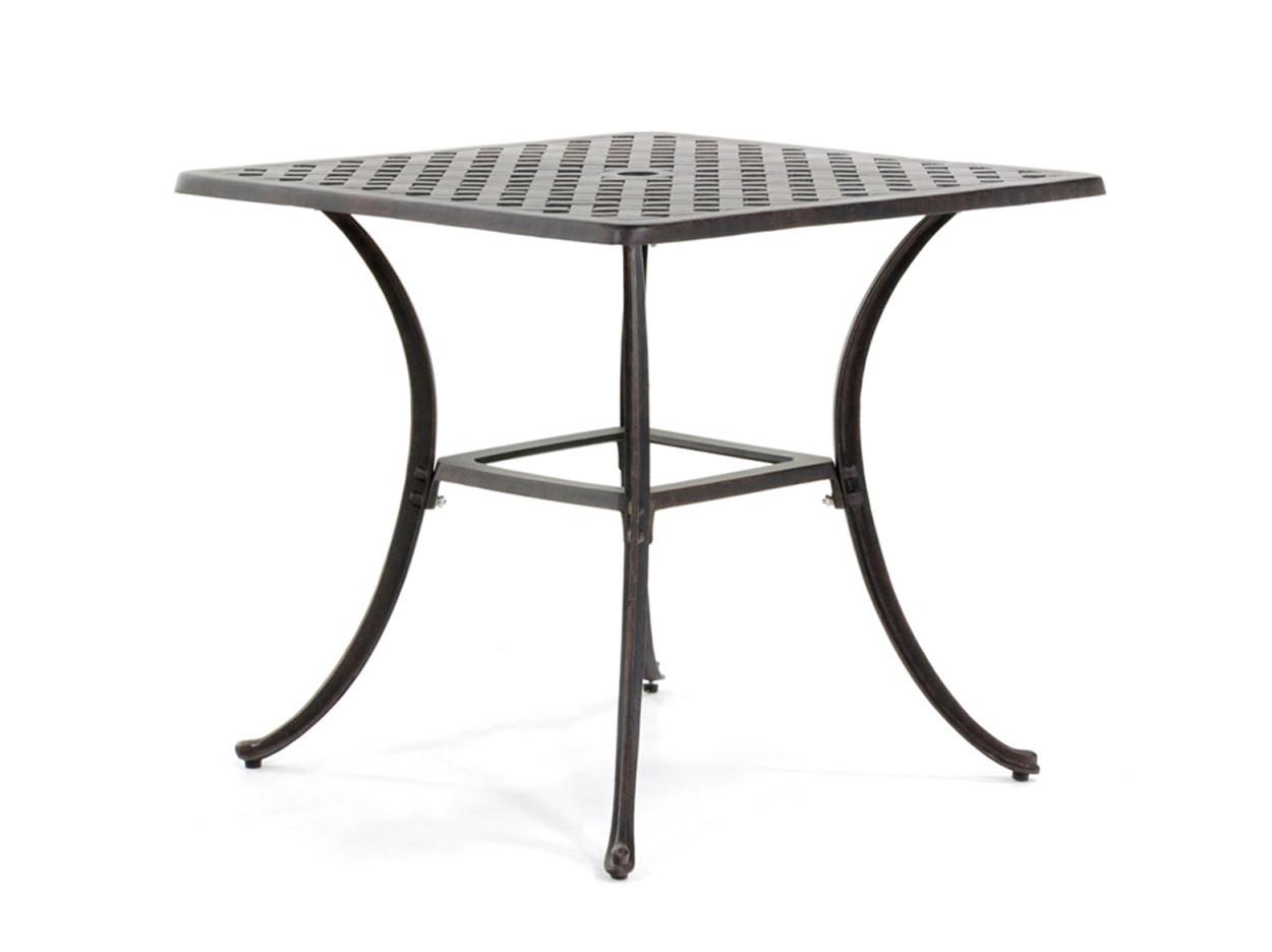 Pavia bronze bistrotafel 800x800mm