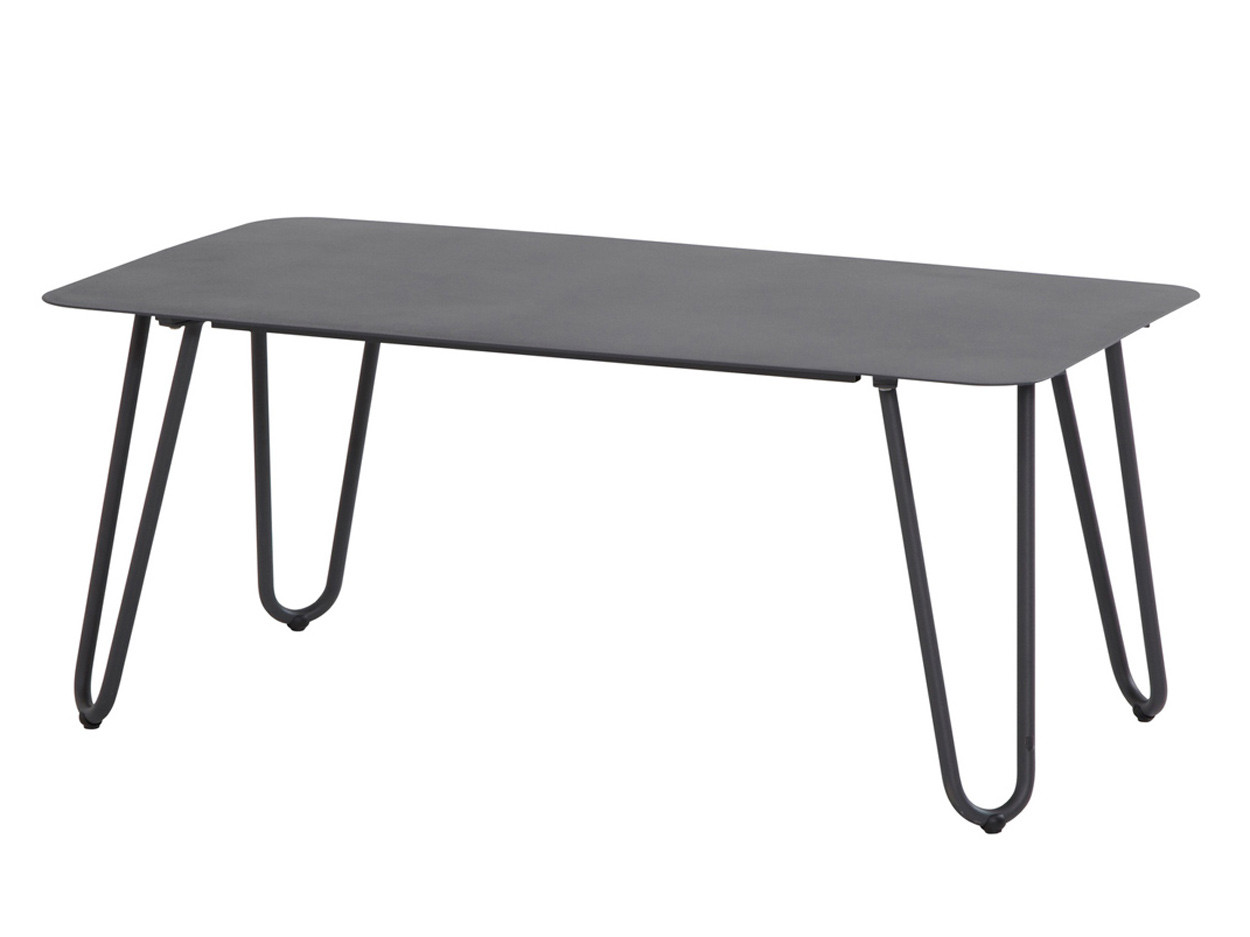 Cool anthracite lounge tuintafel 110 x 59 x 45cm