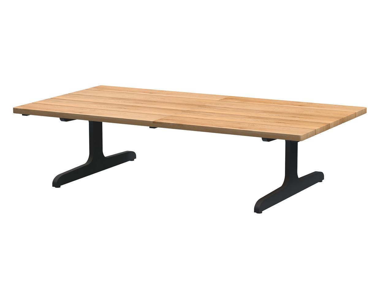Kaya coffee table teak top 110 x 60 x 30 cm