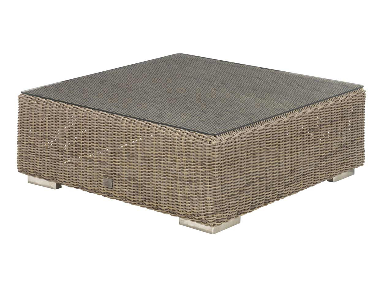 Kingston coffee table 95 x 95 x 35 cm. +glass