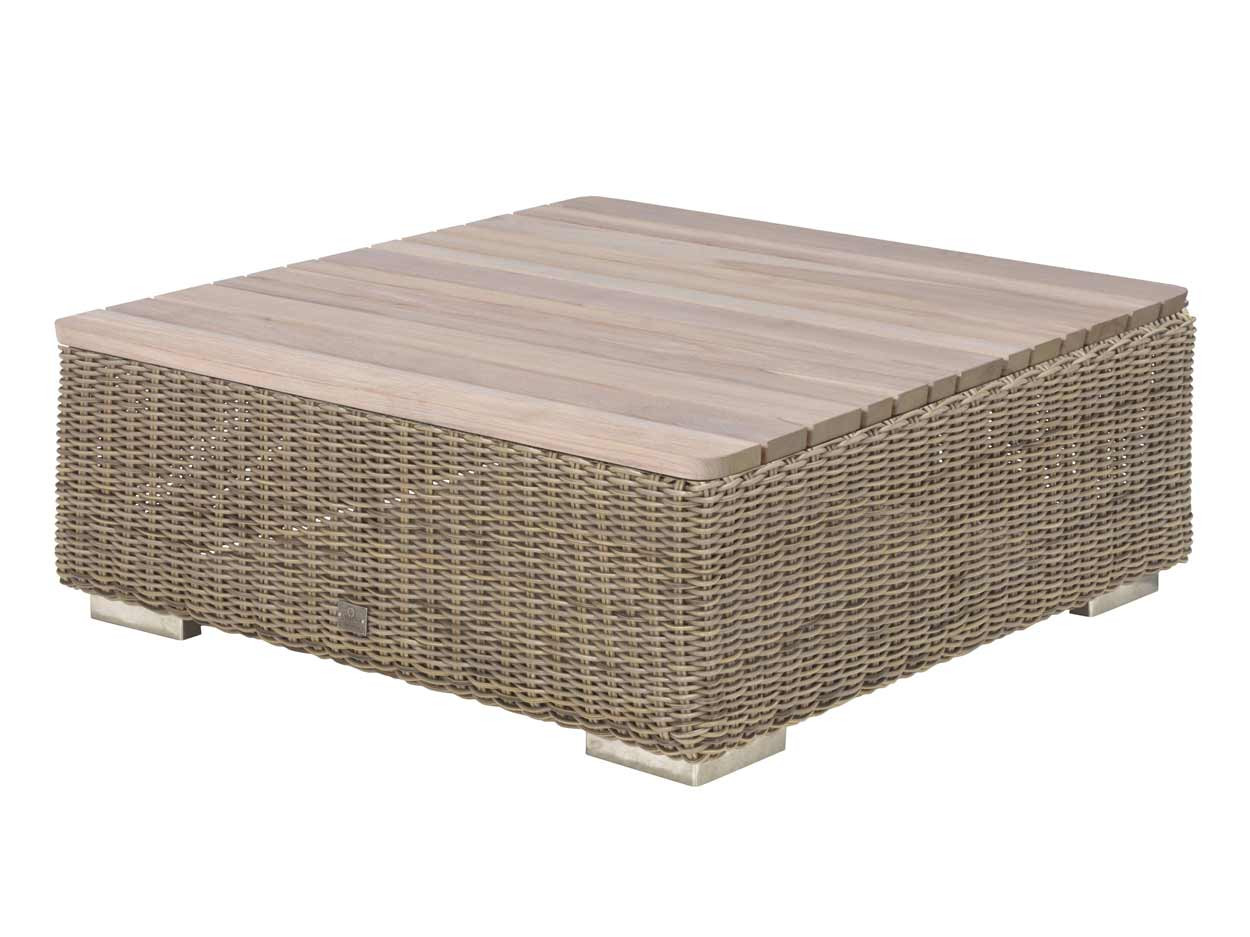 Kingston coffee table 85 x 85 x 35 cm Teak top