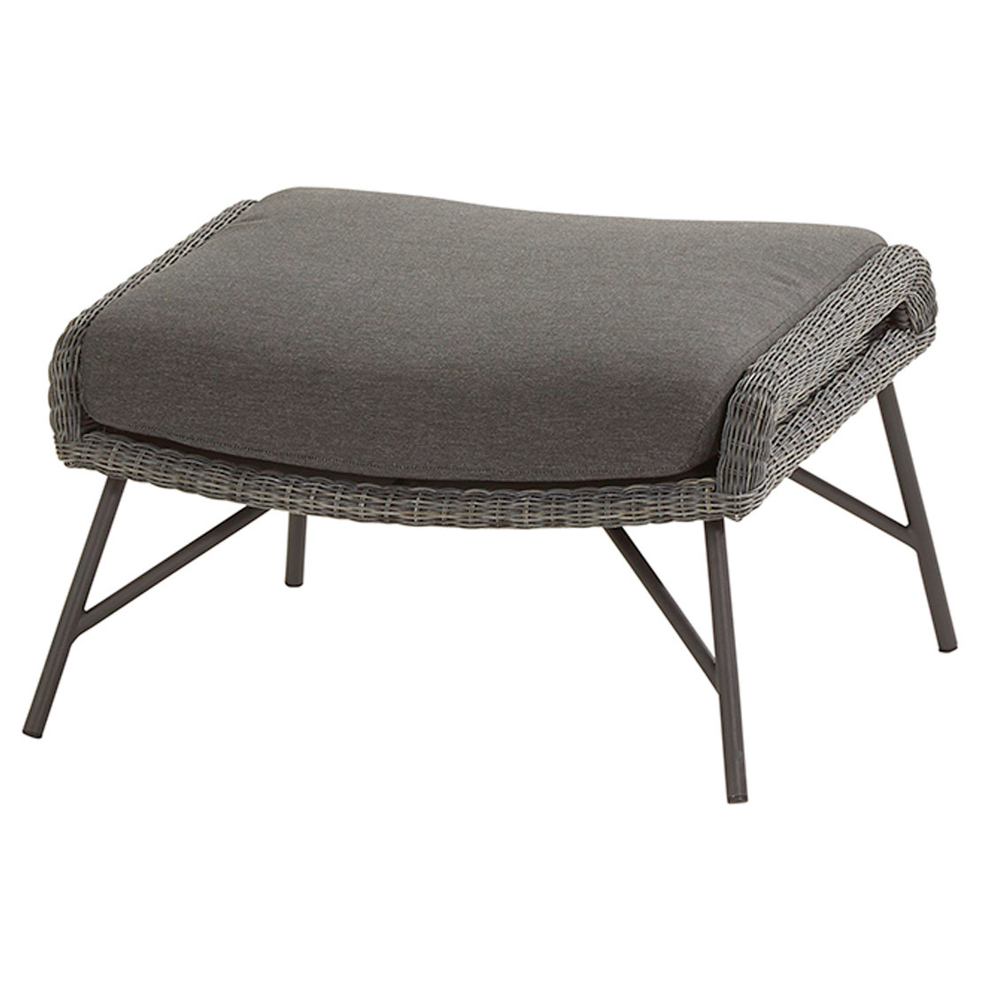 Samoa footstool Ecoloom Charcoal with cushion