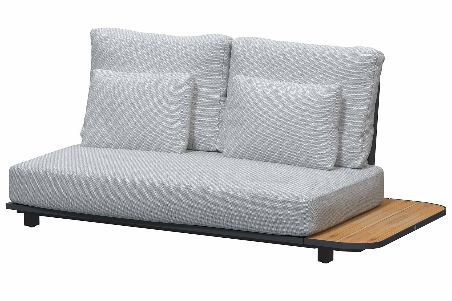 Arcade floating bench Left with 5 cushions