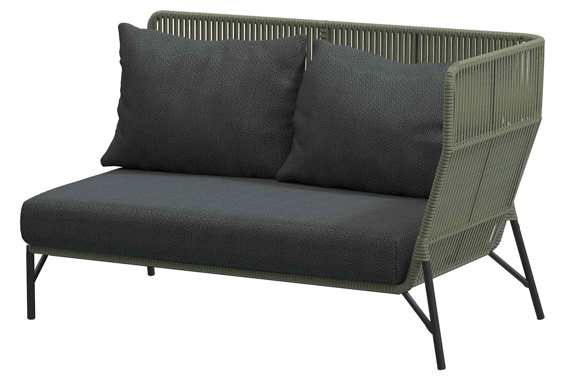 Altoro Modular 2 seater left arm Green with 3 cushions