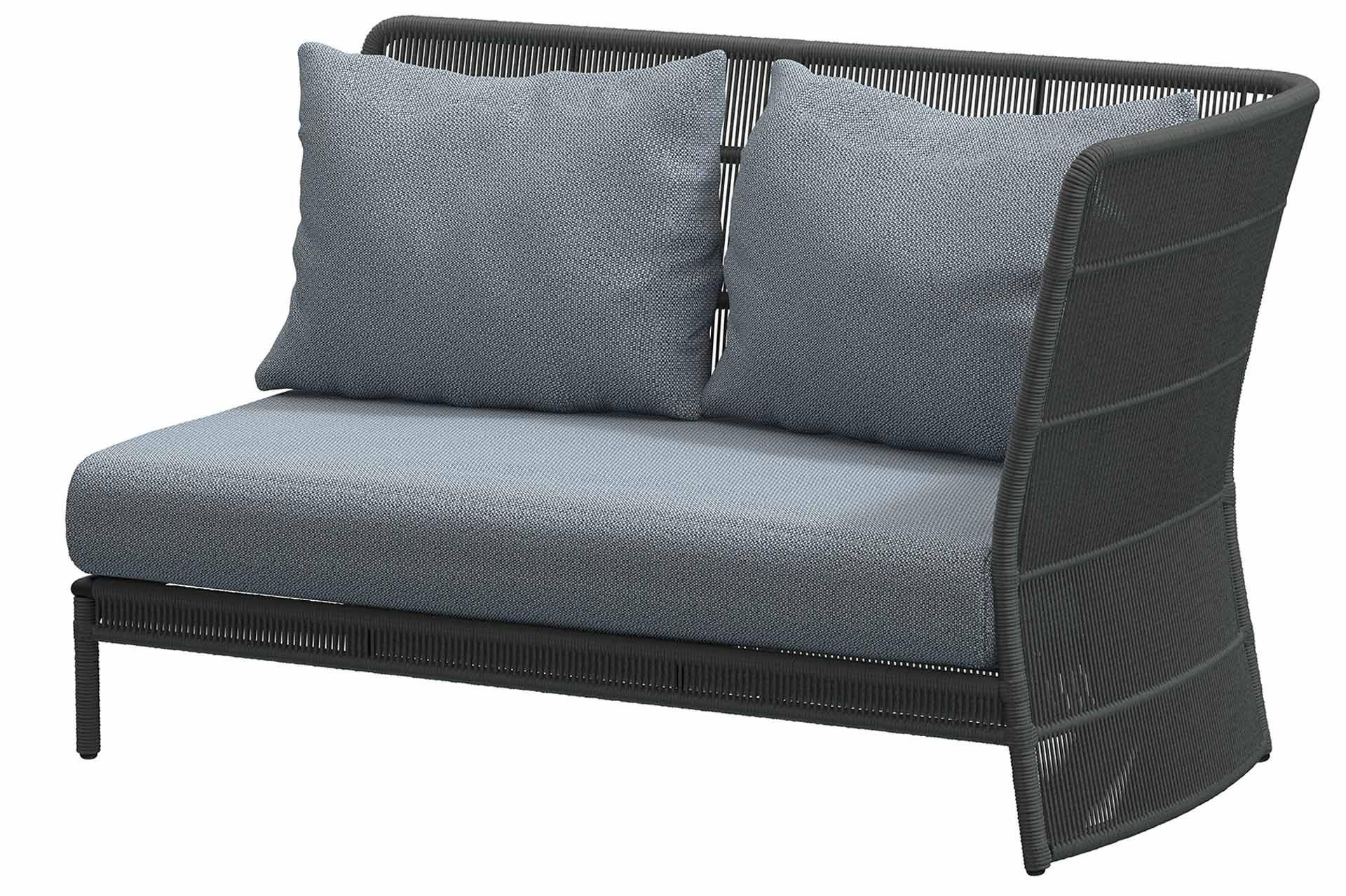 Oriënt Modular 2 seater left arm Platinum with 3 cushions