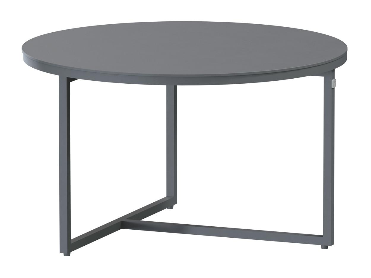 Valetta coffee table Alu round 58.5 cm. Alu legs (H35)