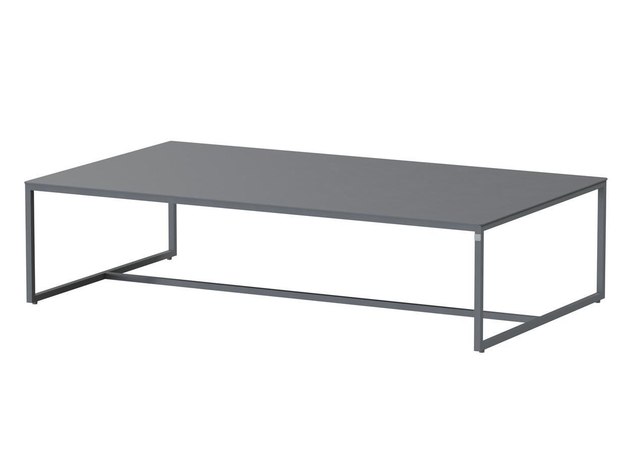 Valetta coffee table Alu 120 X 70 x 30 cm. Alu legs