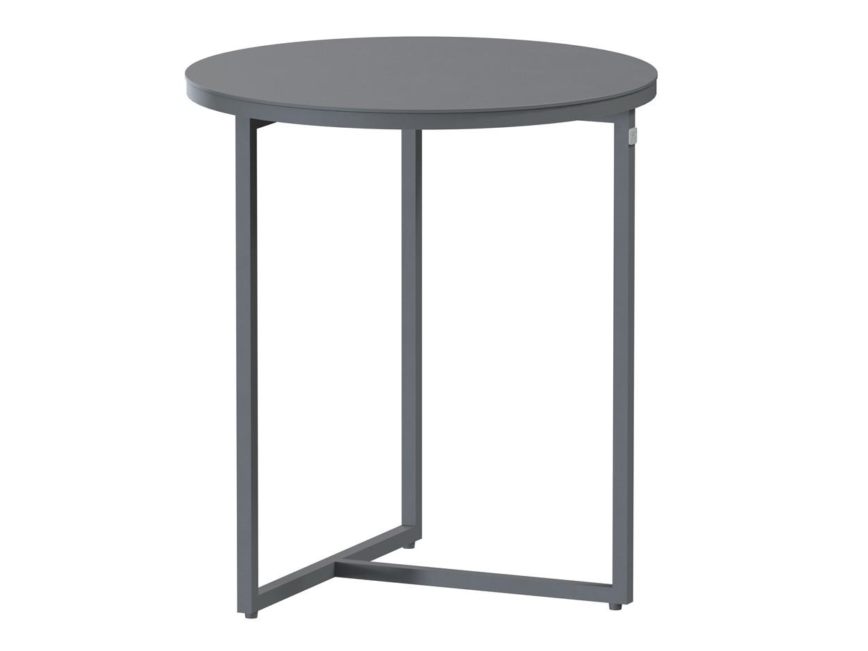 Valetta side table Alu 45 cm Alu legs (H50)