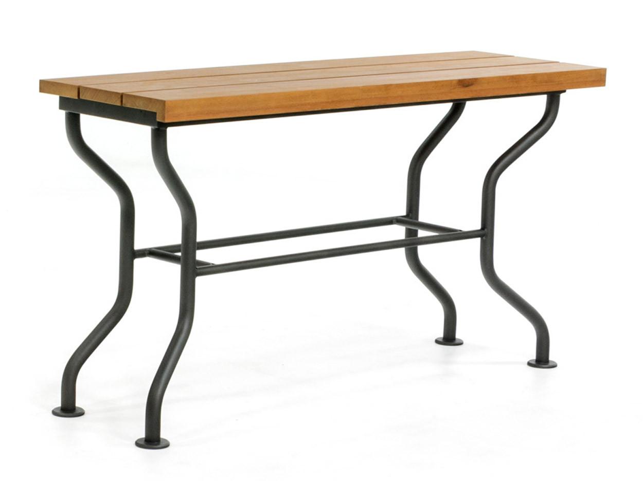 Side-table met hardhouten blad