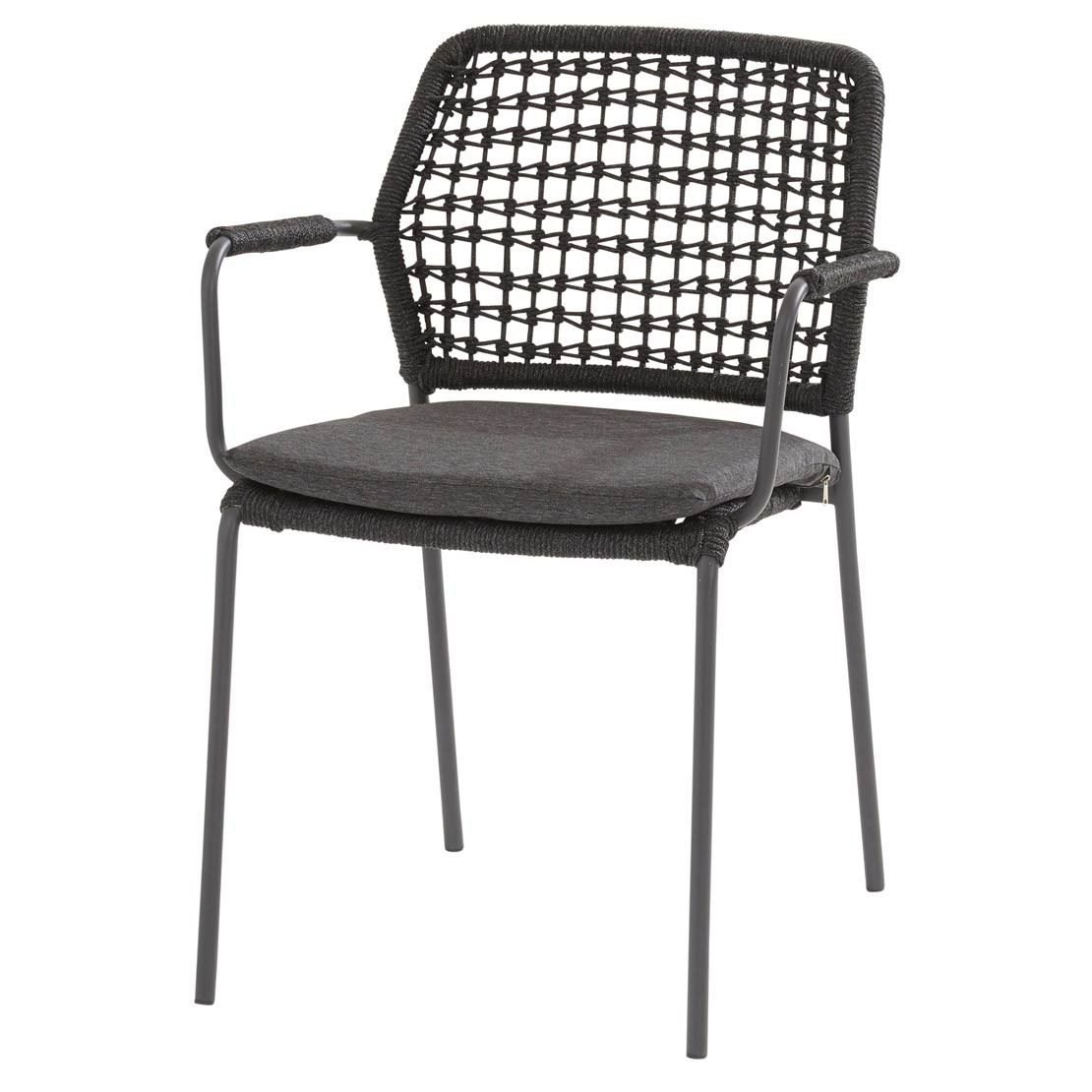 Barista stacking chair Anthracite with cushion