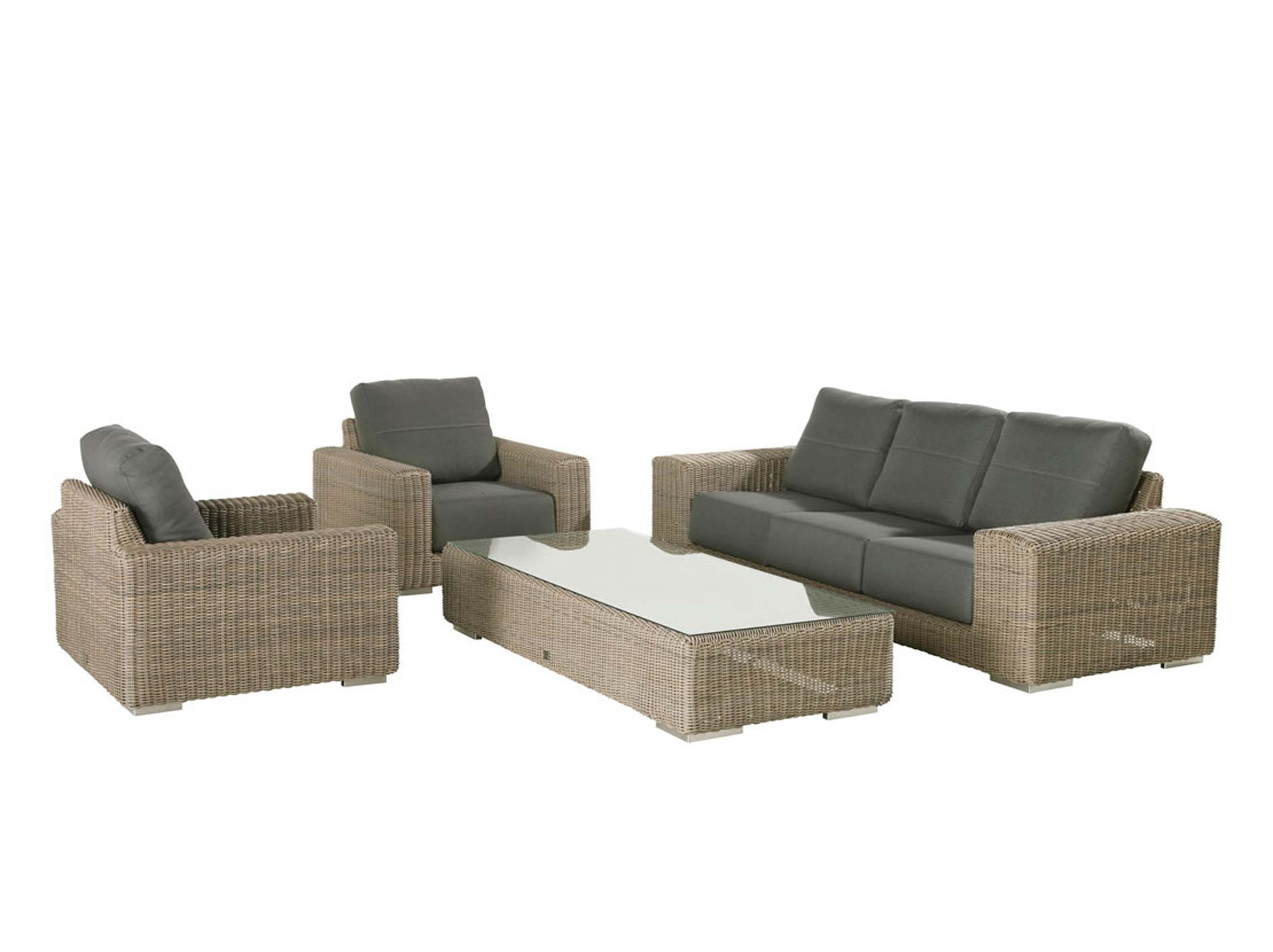 Kingston loungeset 4-delig met lounge stoelen