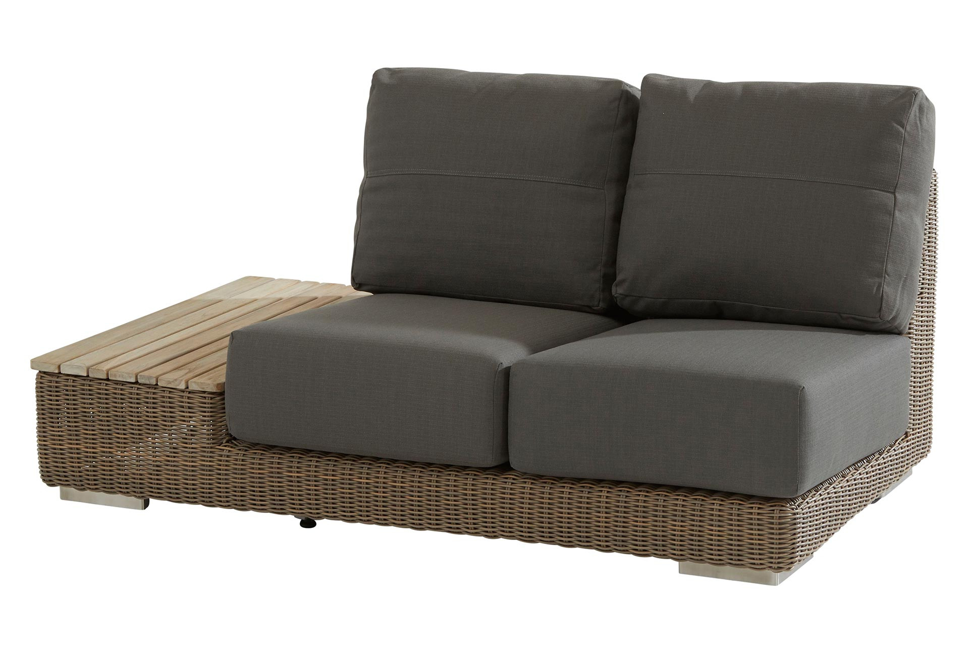 Kingston modular 2 seater right island teak with 4 cushions