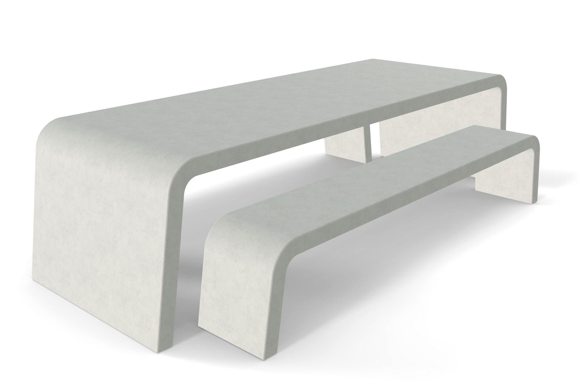 Liv betonlook tuintafel met twee betonlook banken