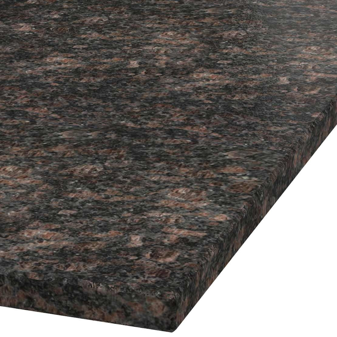 Blad 30mm dik Tan Brown graniet (leathered)